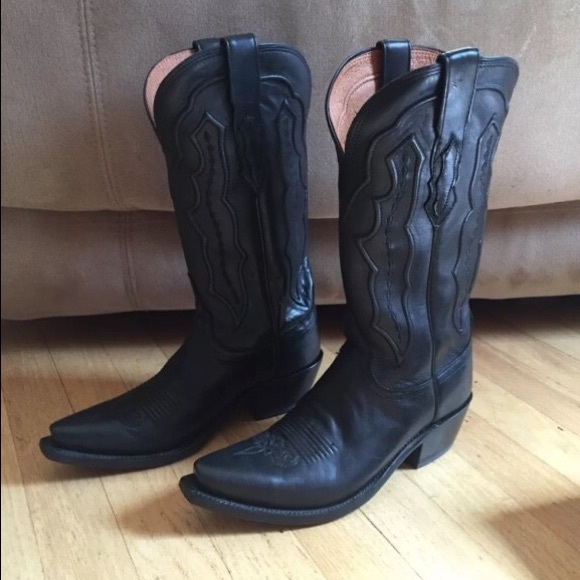 00445897a54 Lucchese Black Cowboy boots
